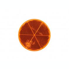 Reflector (portocaliu, autoadeziv, diametru 60mm)