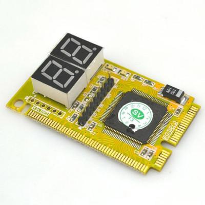 TESTER MINI PCI-E depanare(diagnoza placa de baza, motherboard ) laptop foto