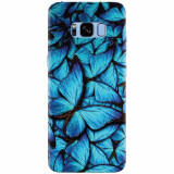 Husa silicon pentru Samsung S8, Blue Butterfly 101