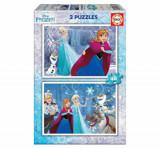 Cumpara ieftin Puzzle Frozen, 2 x 48 piese, Educa