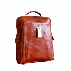 Rucsac din piele naturala vachetta, portlaptop, R106