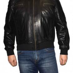 Haina barbati, din piele naturala, marca Kurban, 301-01-95-1, negru , marime: XL