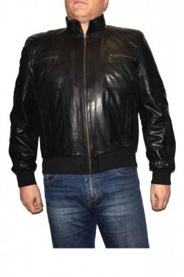 Haina barbati, din piele naturala, marca Kurban, 301-01-95-1, negru , marime: foto