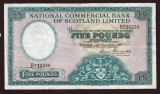Scotia 5 Pounds Scotland National Commercial Bank sB730330 1959 P#259