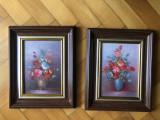 Tablou,pictura in ulei pe panza,vaza cu flori,semnata, Istorice, Altul
