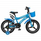 Bicicleta Copii Carpat C1600A, Roti 16inch, Frane C-Brake, Roti Ajutatoare cu LED (Albastru)