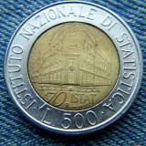2m - 500 Lire 1996 Italia / INSTITUTUL NATIONAL DE STATISTICA, Europa