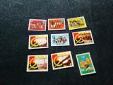 LOT TIMBRE NESTAMPILATE 2 SERII RWANDA 1971 ANGOLA 1985