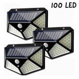 Cumpara ieftin Set 3 x Lampa 100 LED cu panou solar senzor de miscare