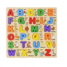 Puzzle lemn 3D Alfabetul litere mari cu imagini