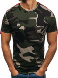 T-shirt pentru bărbat camuflaj-verde Bolf 181121-A