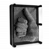 Decoratiune tablou 3D, Pin Art, negru