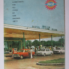 Brosura publicitara PECO cu harta R.S.R. din 1977