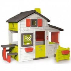 Casuta Copii cu gradina Smoby Fun Friends Playhouse