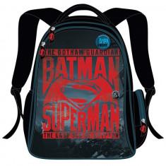 Ghiozdan gimnaziu BATMAN vs SUPERMAN, negru cu rosu
