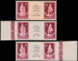 1960 Romania - 3 Triptice ndt Ziua Victoriei varietati margini coala + eseu