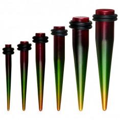 Taper colorat pentru ureche - stil rasta - Lățime: 3 mm