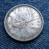 1p - 25 Cents 1965 Canada argint / Elisabeta II, America de Nord