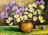 Tufanele, Flori, Ulei, Impresionism