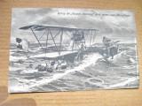 ww1-Salvarea echipajului Foucault  de catre pilotii unui avion al marinei imp...
