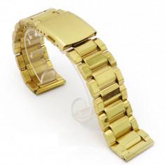 Bratara pentru ceas aurie 22 mm 24 mm WZ481