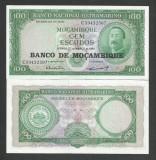MOZAMBIC / MOZAMBIQUE 100 ESCUDOS 1961 UNC [1] P-109a.5 , necirculata