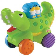 Jucarie bebe Fisher Price Press and Go Crocodil