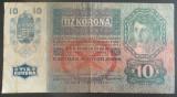 Bancnota ISTORICA 10 COROANE - AUSTRO-UNGARIA (AUSTRIA), anul 1915  *cod 185  C