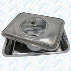 Tavă pentru cuptor cu capac, Vanora, material inox, 39x29x7 CM