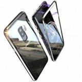 Husa Samsung Galaxy S9 Magnetica Black Elegance Luxury Perfect Fit cu spate de sticla securizata premium
