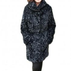 Jacheta fashion cu blana ecologica pe o parte si fas fin pe cealalta