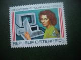HOPCT TIMBRE MNH 640 MUNCA LA CALCULATOR  1987  -1 VAL AUSTRIA
