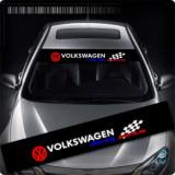 Sticker parasolar auto VOLKSWAGEN (126 x 16cm) ManiaStiker, AutoLux