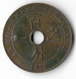 Moneda 1 cent 1922 - Indochina Franceza, lovita, Asia