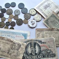 Lot, monede, bancnote si medalii vechi - Romania 1905-1956