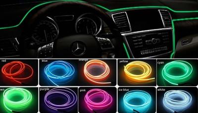 Fir neon auto electroluminiscent El Wire 2m cu lumina Mov / Violet cu droser si mufa bricheta HID foto