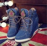 Sneakers HIGH cu fermoar