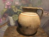 Arta si Traditie - Veche oala cu maner de Binis realizata si decorata manual !