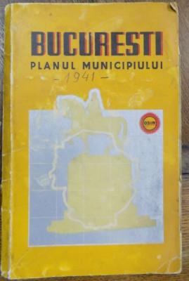 PLANUL MUNICIPIULUI BUCURESTI 1941 foto