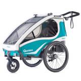 Remorca de bicicleta Qeridoo Kidgoo1, 2019,  aquamarin