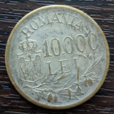 (MR19) MONEDA ROMANIA - 10.000 LEI 1947, REGELE MIHAI I, PLACATA CU ARGINT