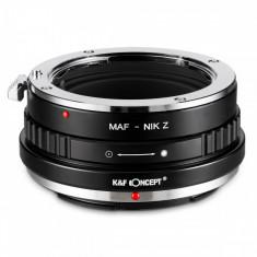 K&F Concept Minolta(AF)-Nik Z adaptor montura de la Sony Minolta A/ Sony A la Nikon Z6 Z7 KF06.373