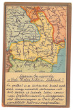 4826 - MAP, Iasi, Buzau, Bacau, Targu-Jiu, Targu-Mures - old postcard - unused, Necirculata, Printata
