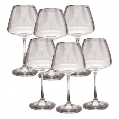 Set 6 pahare cristal vin rosu Bohemia, 350ml, Naomi Collection