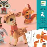Set creativ pentru copii, Animale jucarii din hartie Djeco
