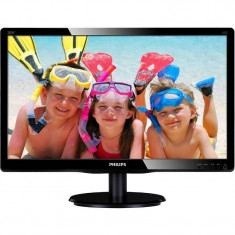 Monitor Philips LED 200V4LAB2/00 19.5 inch 5ms Negru