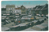 4367 - BRASOV, Market, Romania - old postcard - used - 1918, Circulata, Printata