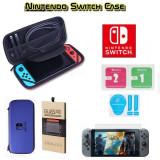 Husa Protectie Consola + Folie Sticla H9 Protector Nintendo Switch Albastru -222