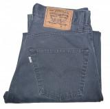 Blugi Dama Levis Jeans LEVI'S 500 VINTAGE - MARIME: W 32 / L 32 - (Talie 76 CM), Lungi, Gri