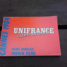 CANNES 1984, UNIFRANCE INTERNATIONAL (CARTE IN LIMBA FRANCEZA)